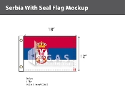 Serbia Flags 12x18 inch (with seal)