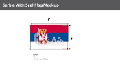 Serbia Flags 4x6 foot (with seal)