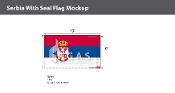 Serbia Flags 6x10 foot (with seal)