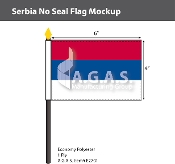 Serbia Stick Flags 4x6 inch (no seal)