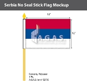 Serbia Stick Flags 12x18 inch (no seal)