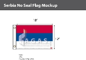 Serbia Flags 12x18 inch (no seal)