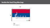 Serbia Flags 8x12 foot (no seal)