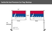 Serbia Car Flags 10.5x15 inch Premium (no seal)