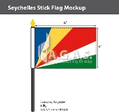 Seychelles Stick Flags 4x6 inch