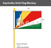 Seychelles Stick Flags 12x18 inch
