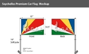 Seychelles Car Flags 10.5x15 inch Premium