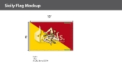 Sicily Flags 8x12 foot