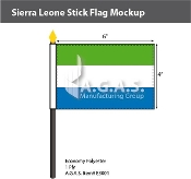Sierra Leone Stick Flags 4x6 inch
