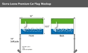 Sierra Leone Car Flags 10.5x15 inch Premium