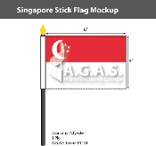 Singapore Stick Flags 4x6 inch