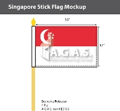 Singapore Stick Flags 12x18 inch