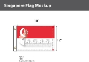 Singapore Flags 12x18 inch