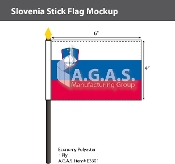 Slovenia Stick Flags 4x6 inch