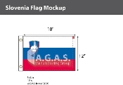 Slovenia Flags 12x18 inch