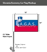 Slovenia Car Flags 12x16 inch Economy