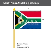 South Africa Stick Flags 12x18 inch