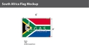 South Africa Flags 4x6 foot