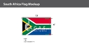 South Africa Flags 6x10 foot