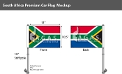 South Africa Car Flags 10.5x15 inch Premium