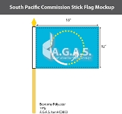 South Pacific Commission Stick Flags 12x18 inch