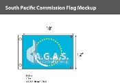 South Pacific Commission Flags 12x18 inch