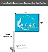 South Pacific Commission Car Flags 12x16 inch Economy