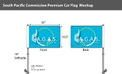South Pacific Commission Car Flags 10.5x15 inch Premium