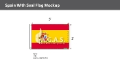 Spain Flags 2x3 foot (with seal)