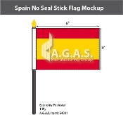 Spain Stick Flags 4x6 inch (no seal)