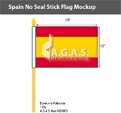 Spain Stick Flags 12x18 inch (no seal)