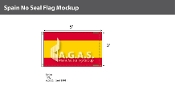 Spain Flags 3x5 foot (no seal)