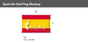 Spain Flags 5x8 foot (no seal)