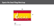 Spain Flags 6x10 foot (no seal)