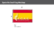 Spain Flags 8x12 foot (no seal)