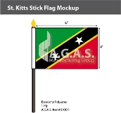 St. Kitts Stick Flags 4x6 inch