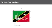 St. Kitts Flags 4x6 foot