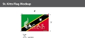 St. Kitts Flags 5x8 foot