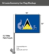St. Lucia Car Flags 12x16 inch Economy
