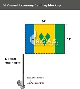 St. Vincent Car Flags 12x16 inch Economy