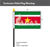 Suriname Stick Flags 4x6 inch