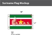 Suriname Flags 12x18 inch