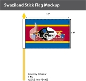 Swaziland Stick Flags 12x18 inch