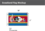 Swaziland Flags 12x18 inch