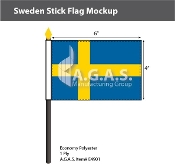 Sweden Stick Flags 4x6 inch