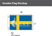 Sweden Flags 12x18 inch