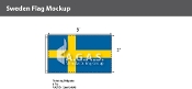 Sweden Flags 3x5 foot