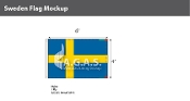 Sweden Flags 4x6 foot