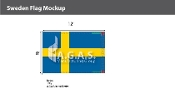 Sweden Flags 8x12 foot