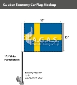 Sweden Car Flags 12x16 inch Economy